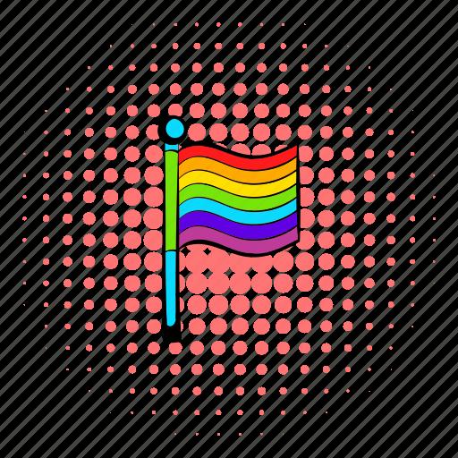 comics, couple, homosexuality, rainbow, relationship, respect, sexuality icon