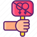 activist, anti, gay, hand icon