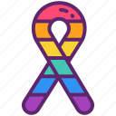 awarness, lgbt, rainbow, ribbon icon