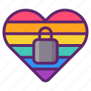 closeted, heart, lgbt, lock icon