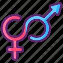 fluid, sexual, gender, identity icon