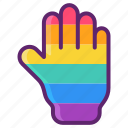 colourful, hand, lgbt, rainbow icon
