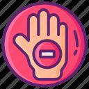 hand, homophobia, no, sign