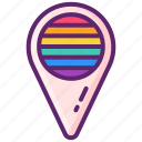 holder, lgbt, place, rainbow icon