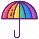 lgbt, pride, rainbow, umbrella icon