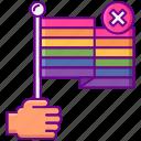 anti gay, flag, rainbow icon