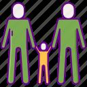 adoption, child, family icon