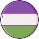 flag, gender, genderqueer icon