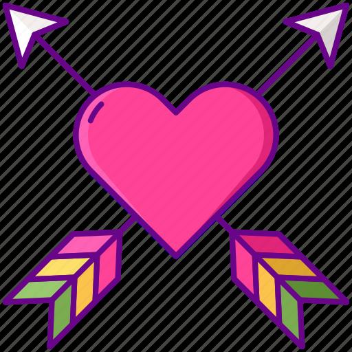 arrow, heart, lgbt, love icon