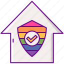 housing, lgbt, protection, raibow icon