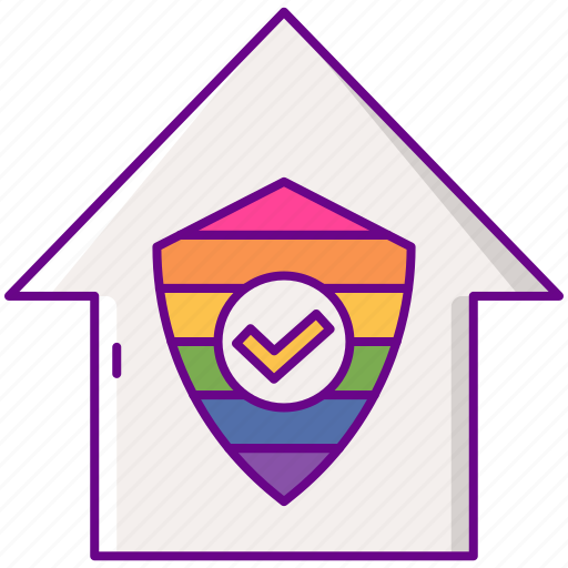 housing, lgbt, protection, raibow icon