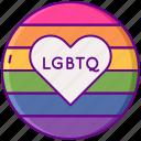 flag, heart, lgbtq, rainbow icon