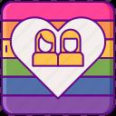 dating, lesbian, rainbow icon