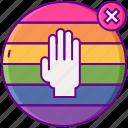 homophobia, lgbt, rainbow icon