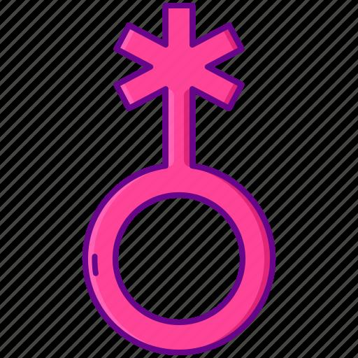 gender, non binary, sex icon