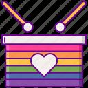 lgbt, parade, pride, rainbow icon