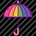 queer, rainbow, umbrella icon