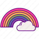 cloud, lgbt, rainbow icon