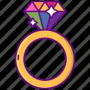 diamond, rainbow, ring