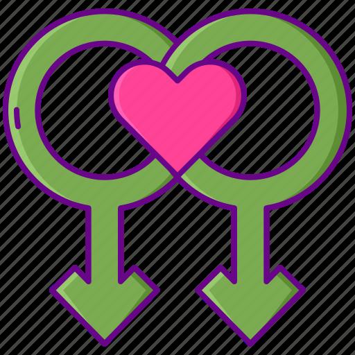 gender, heart, love icon