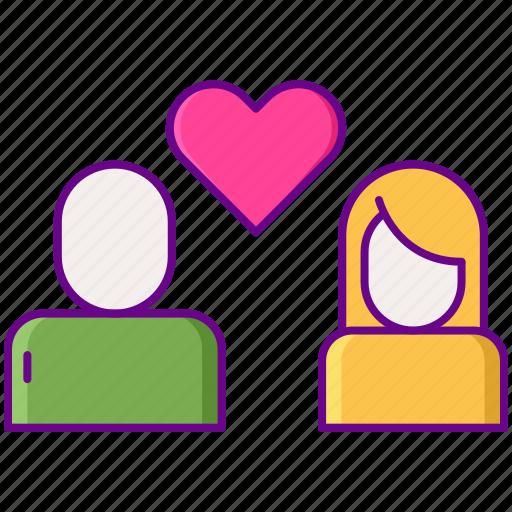 couple, heart, love, straight icon