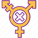 gender, sex, transphobia icon