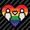couple, heart, homosexual, lgbtq, love, lover, romantic icon