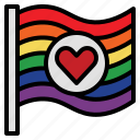 flag, heart, lgbtq, pride, rainbow icon