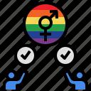 accept, agree, approve, lgbtq, respect, rights icon