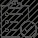 business, checklist, document, form icon