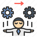 action, control, inventor, operation, process icon
