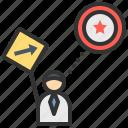 aim, direction, goals, purpose, target icon