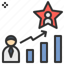 business, development, growth, star, success icon