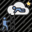 coach, help, partner, star, teamwork icon
