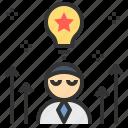 creative, idea, inspiration, meditation, strategy icon