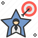aim, goal, star, success, target icon