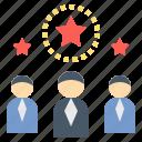 expert, professional, specialist, star, teamwork icon