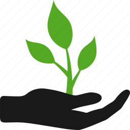 business, give, growth, hand, life, plant, startup icon