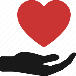 charity, give, hand, heart care, hope, love, proposal icon