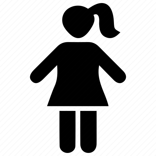 child, girl, kid icon