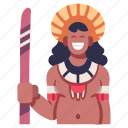 native, brazil, culture, amazonia, jungle, amazon rainforest icon