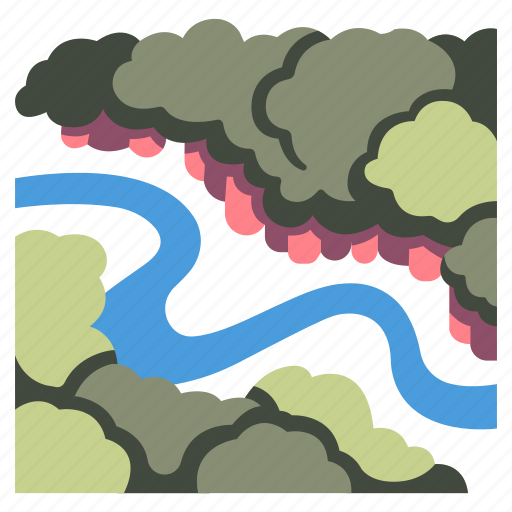 Forest, jungle, nature, river, tree, amazon rainforest, amazon river icon - Download on Iconfinder