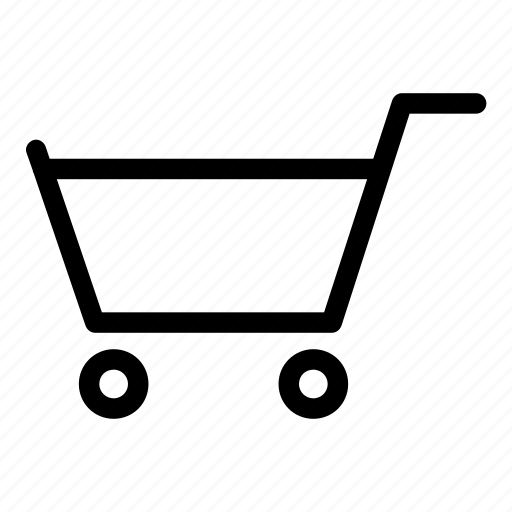 cart, grocery, items, push, shopping icon