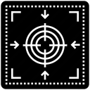 bullseye, crosshair, focus, precision, seo, target icon
