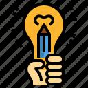 artist, creative, entrepreneur, idea, skill icon