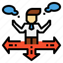 career, choices, decision, direction, making, path, selection icon