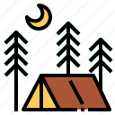 camping, night icon