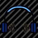 earphone, headphone, radio icon