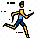 run, runner, running icon