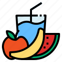 fruit, juice, splash icon
